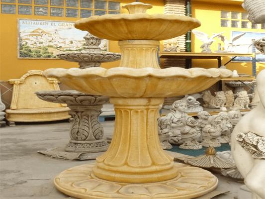 Comedores y fuentes de piedra